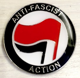 Antifascist Action Flags Enamel badge -