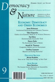 Democracy & Nature Vol 9, # 3 - Issue 9 (1997)