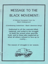 Message to the Black Movement