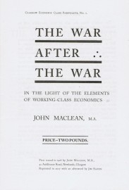 The War After The War: In the Light of the Elements of Working-Class Economics