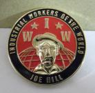 Joe Hill / IWW Enamel badge