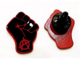 Black clenched fist pin