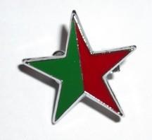 Green Socialist Red & Green star badge